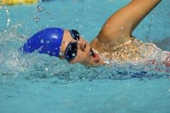 Nadador que faz um curso do estilo livre Imagens de Stock Royalty Free