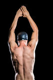 Nadador que se prepara para zambullirse Imagen de archivo libre de regalías
