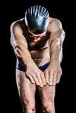 Nadador que se prepara para zambullirse Foto de archivo libre de regalías