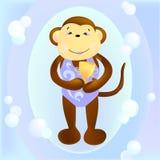 Nadador síncrono a solas del mono libre illustration