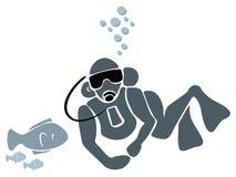 Nadador subacuático Fotos de archivo libres de regalías