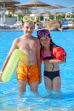 Nadadores Imagen de archivo libre de regalías