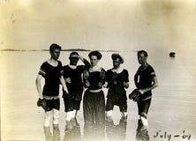 Nadadores de la vendimia Imagen de archivo libre de regalías