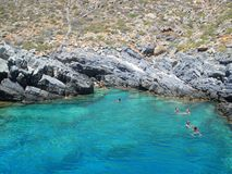 Nadadores en Grecia imágenes de archivo libres de regalías