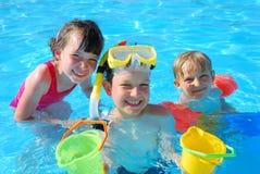Nadadores felices Imagen de archivo libre de regalías