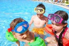 Nadadores felices Foto de archivo libre de regalías