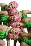 Nadadores sincronizados fotografia de stock royalty free