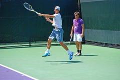 Nadal Hitting Drill Stock Photo