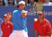 Nadal hitting Royalty Free Stock Photo