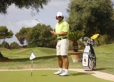 Nadal på golf 023 Arkivbild