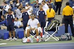 Nadal Rafa赢取了美国公开赛2013年(19) 库存照片