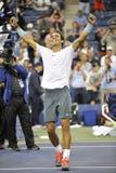 Nadal Rafa gewonnen US Open 2013 (21) Royalty-vrije Stock Foto's