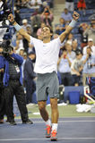Nadal Rafa segrade US Open 2013 (21) Royaltyfria Foton