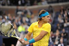 Nadal Rafael at US Open 2009 (10). Rafael Nadal is one of favourites of US Open 2009 Stock Image
