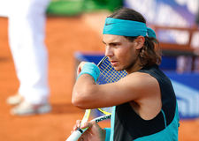 Nadal 031. Tennis player Rafa Nadal seen during a tournament in the island of mallorca Stock Images