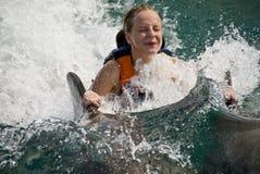 Nadar com golfinhos Imagem de Stock