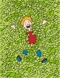 Nadar no dinheiro Imagens de Stock