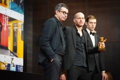 Nadav Lapid, Ben Said dito, Tom Mercier imagens de stock royalty free