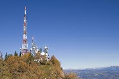 Nadawcza stacja Penegal w Południowym Tyrol Obrazy Royalty Free