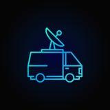 Nadawczego samochodu dostawczego kolorowa ikona ilustracja wektor