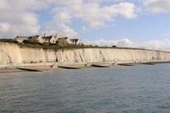 Nadbrzeże i Roedean szkoła przy Brighton. Anglia Zdjęcia Stock