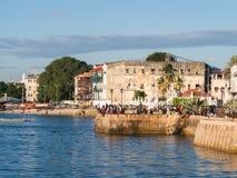 Nadbrzeże w Kamiennym miasteczku, Zanzibar, Tanzania obrazy stock