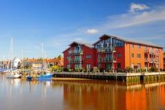 Nadbrzeżni mieszkania, UK Obrazy Royalty Free