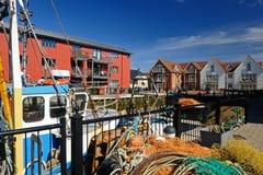 Nadbrzeżni mieszkania, UK Obraz Royalty Free