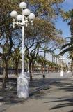 Nadbrzeże deptak w Barcelona. Hiszpania Zdjęcia Royalty Free