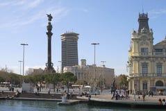Nadbrzeże przy Barcelona schronieniem. Hiszpania Obraz Stock