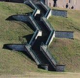 Nadbrzeże rzeki schody Obraz Stock