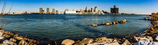 Nadbrzeże rzeki, Windsor, Ontario, Kanada zdjęcie stock