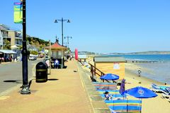 Nadbrzeże, Shanklin, wyspa Wight, UK Zdjęcia Royalty Free