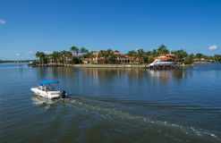Nadbrzeżny dom w Naples, Floryda Zdjęcie Royalty Free