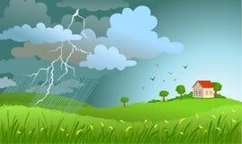 nadchodząca burza ilustracja wektor