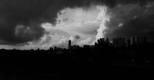nadchodząca burza zdjęcie royalty free