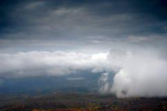 nadchodząca mgła Zdjęcie Stock