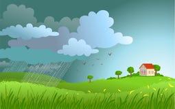 nadchodzące deszcz ilustracji