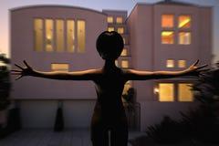 nadchodzący dom ilustracji