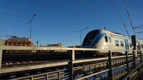 nadchodzący pociąg Zdjęcia Stock