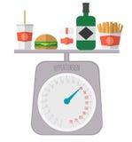 Nadciśnienie dieta Wysokie ciśnienie krwi niezdrowy styl życia Royalty Ilustracja
