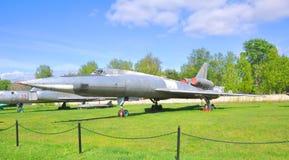 Naddźwiękowa dalekonośna bombowiec Tu-22 siły powietrzne muzeum w Monino robi Moscow regionu Russia znaka myśli co ty Zdjęcia Royalty Free
