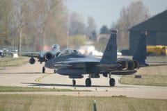 Naddźwiękowego wojskowego strumienia bojowy samolot Obraz Royalty Free