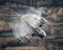 Naddźwiękowy dżetowy samolot Zdjęcia Stock