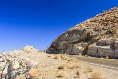 Nadeauproef, Weg 190, het Nationale Park van Doodsvalles Stock Foto