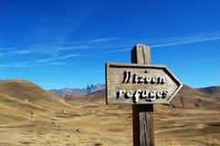 Nadelanzeige in den französischen Alpen, Hochebenede Paris Stockfoto