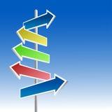 Nadelanzeige der Richtung. Lizenzfreie Stockfotos