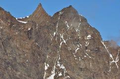 Nadelhorn e Lenzspitze Fotografia Stock