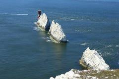 Nadeln auf der Insel von Wight Lizenzfreie Stockfotografie