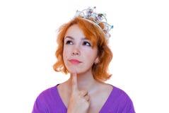Nadenkend meisje Royalty-vrije Stock Fotografie
